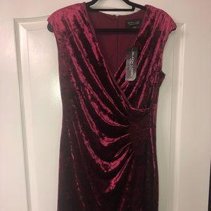 Black Label Dresses - Burgundy above the knee dress